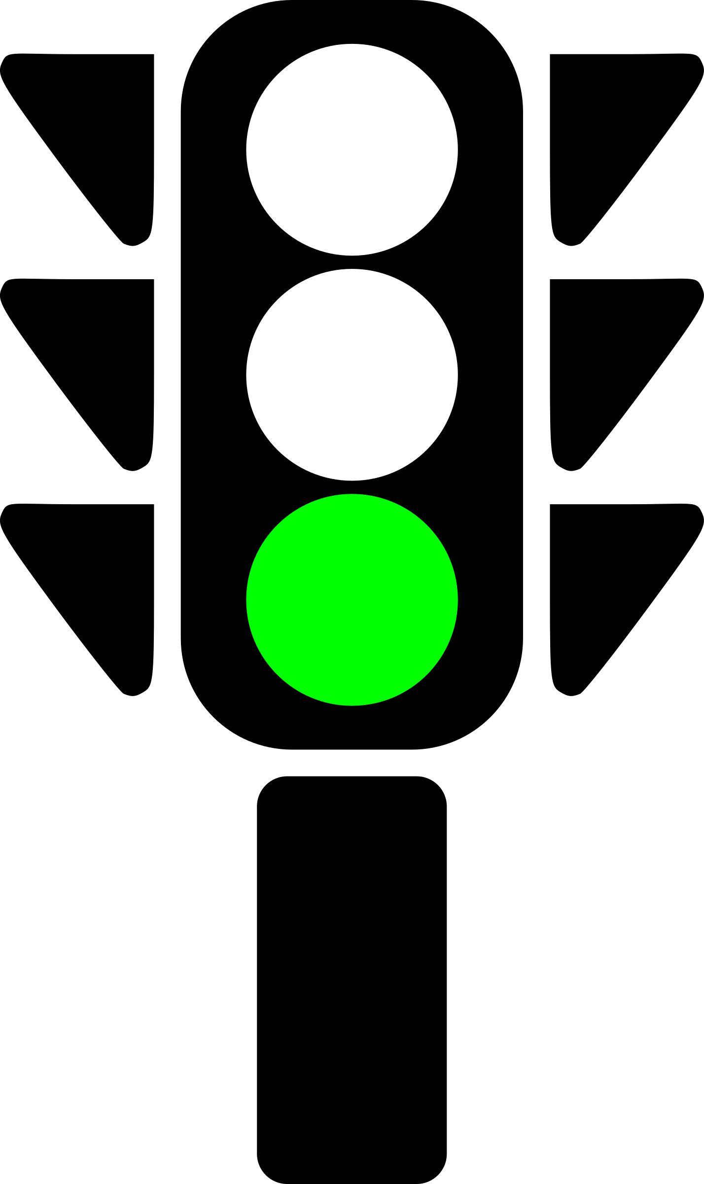 jpg library download Yes clipart green light. Traffic semaphore big image