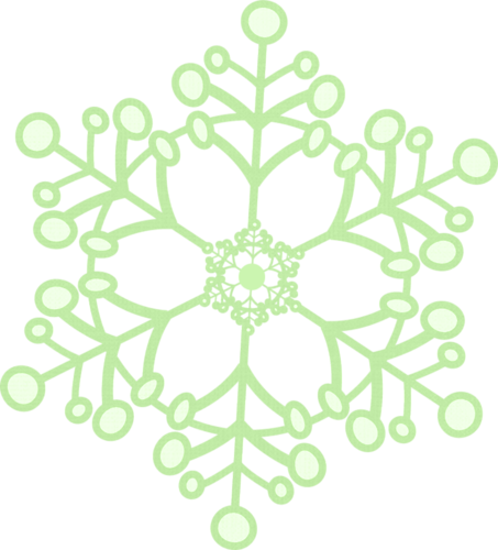 graphic freeuse library Mint green snowflakes pinterest. Snowflake wreath clipart