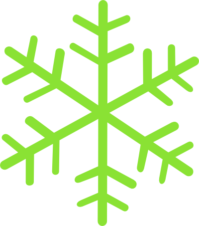 royalty free stock Green Snowflake Clipart