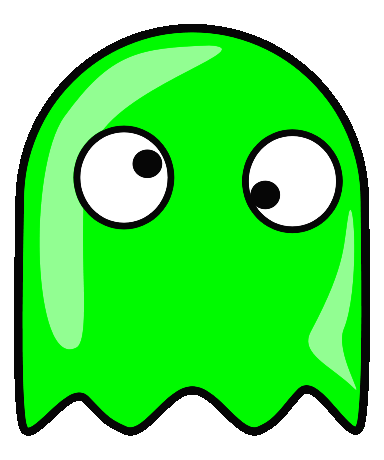 clip library stock google eyed ghost icon green
