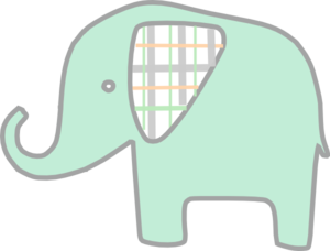 free download Mint Green Elephant Clip Art at Clker