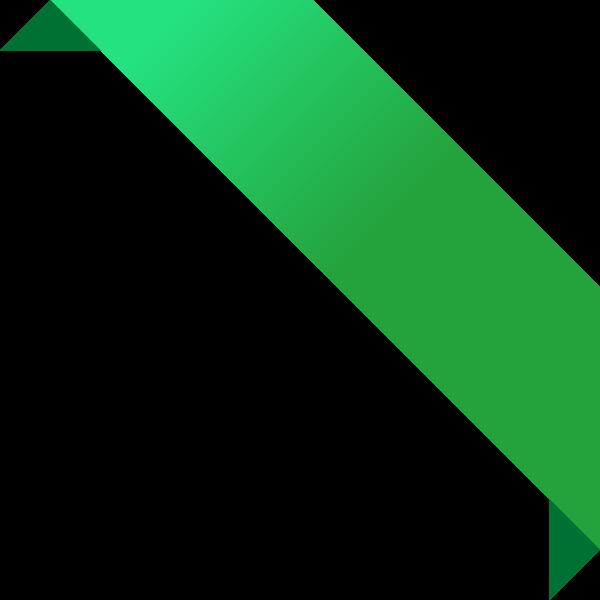 vector freeuse stock Corner ribbon data svg. Green vector
