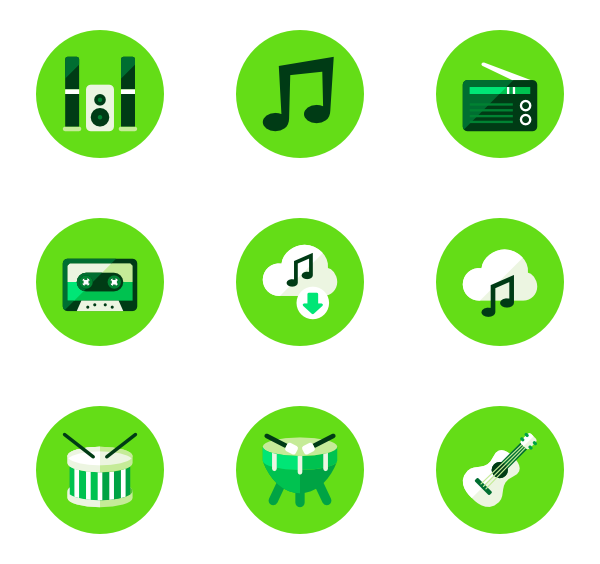 jpg Essential circle icon family. Green vector