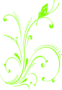 graphic black and white stock Lime scroll clip art. Green vector flowing