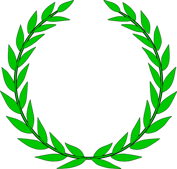 banner royalty free Olive clip art at. Green wreath clipart