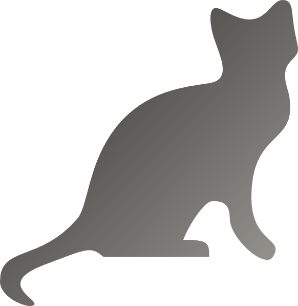 graphic library stock Grey Cat Silhouette Clip Art at Clker