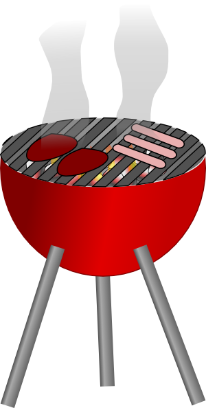 png black and white Barbecue clip art free. Grilling clipart grill top
