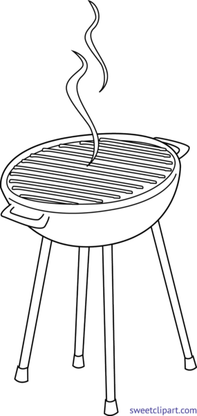 image royalty free Sweet clip art page. Grill clipart black and white