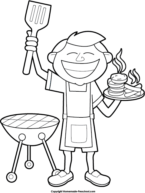 clip freeuse stock Grill clipart black and white. Bbq clip art