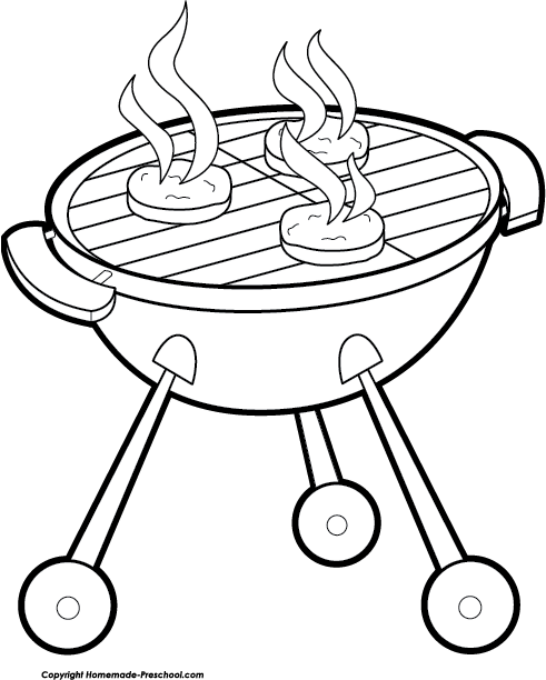 graphic free stock cookout clipart black and white #58290908