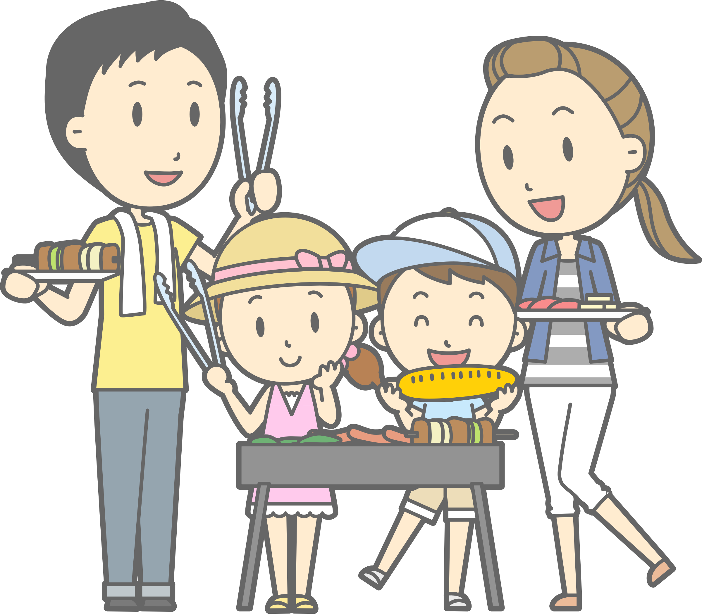 vector royalty free stock Big image png. Grill clipart family barbecue