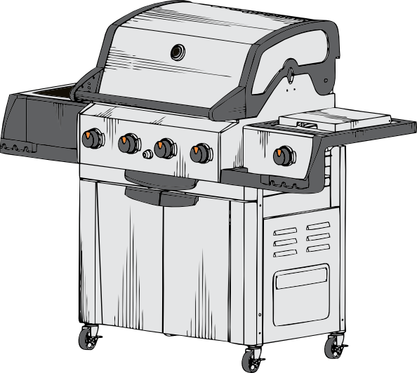 graphic download Grilled clipart propane grill. Clip art at clker