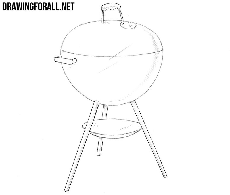 clip art freeuse Grill drawing. How to draw a