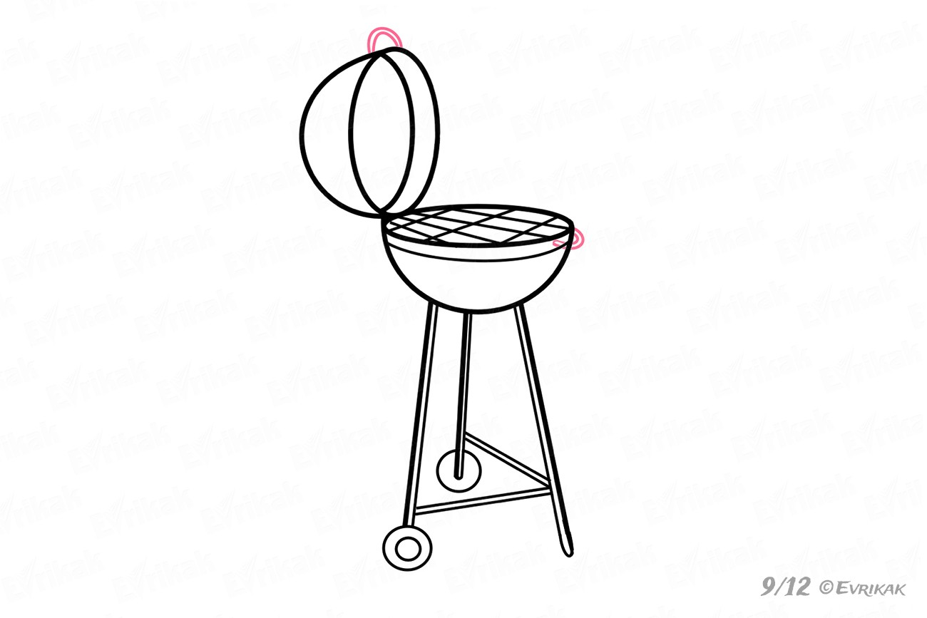 vector black and white download Grill drawing. How to draw a