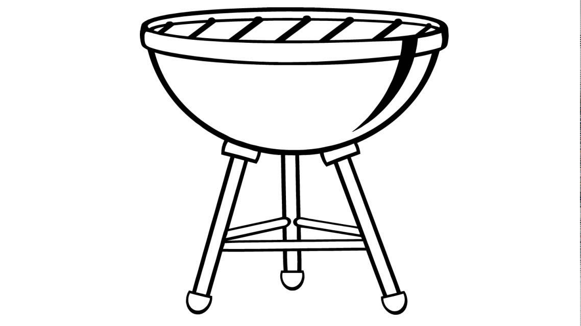 picture freeuse download How to draw a. Grill drawing