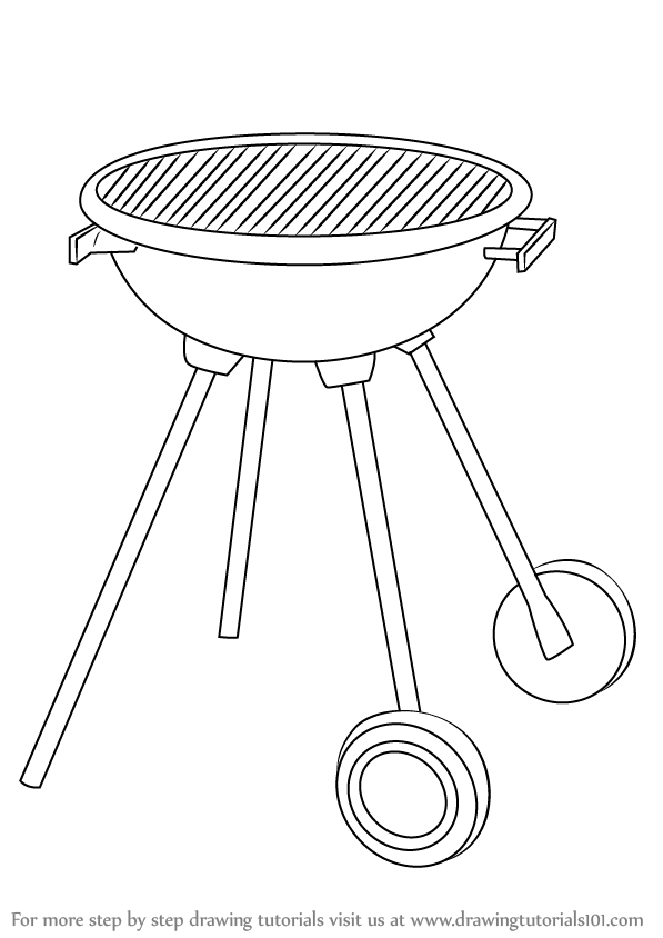 image royalty free download Grill drawing. Learn how to draw
