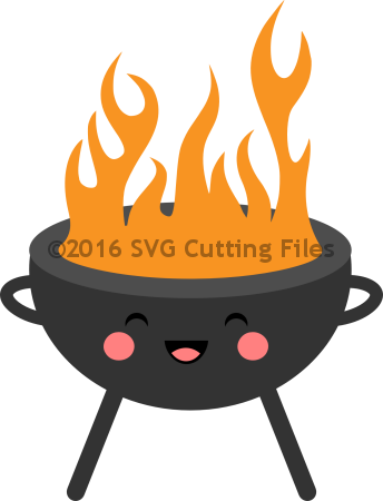 svg Kawaii BBQ Grill