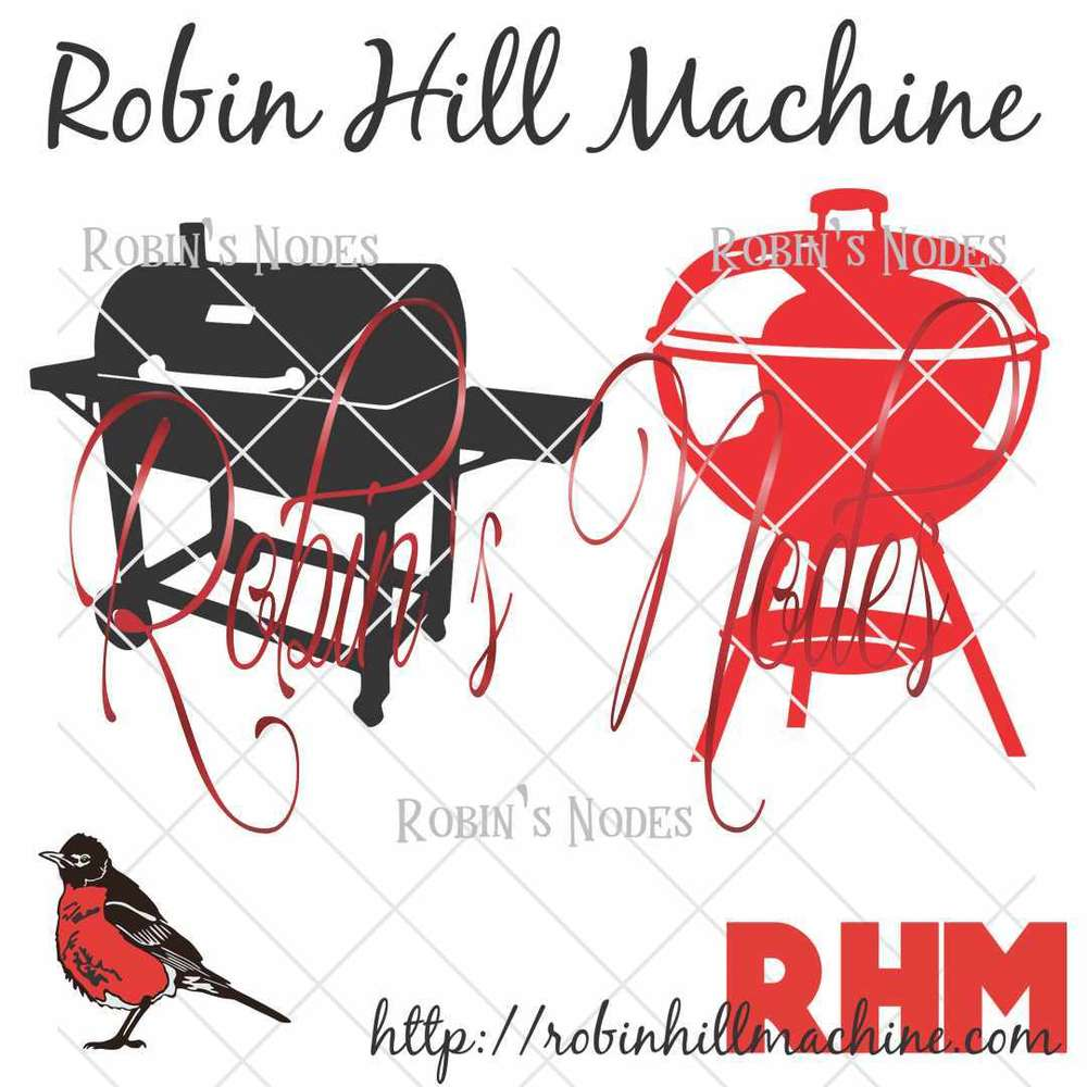 transparent stock Robin hill machine bbq. Grill svg vector