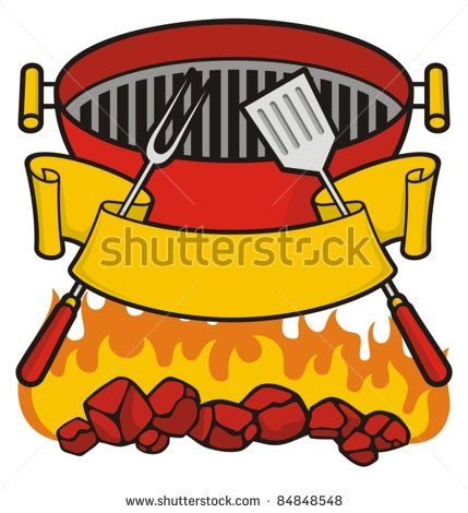 vector royalty free stock Grilled clipart braai. Barbecue grill over flaming