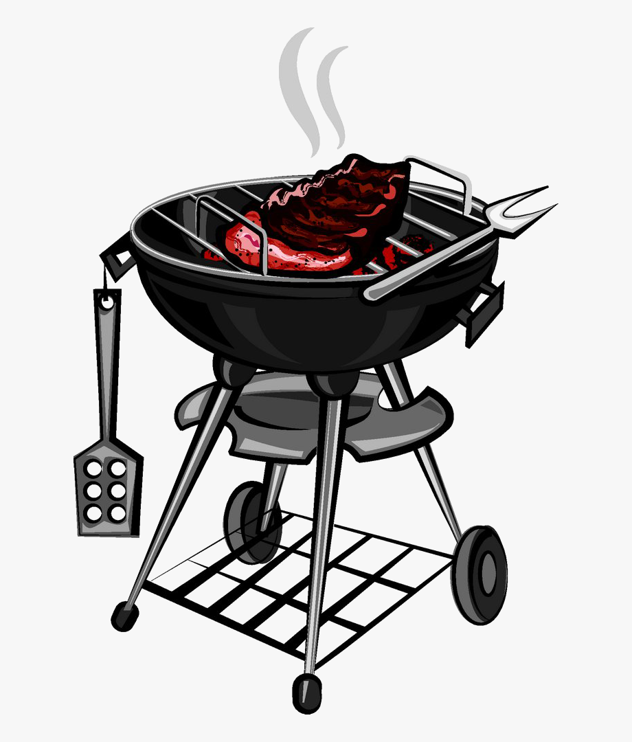 graphic black and white library Barbecue grilling clip art. Grilled clipart outdoor grill
