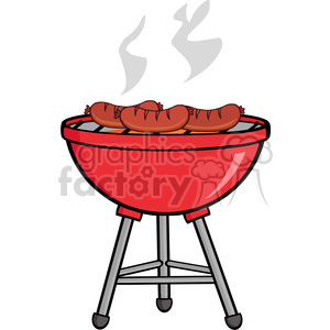 banner royalty free download Grilled clipart outdoor grill. Sausages on barbecue royalty