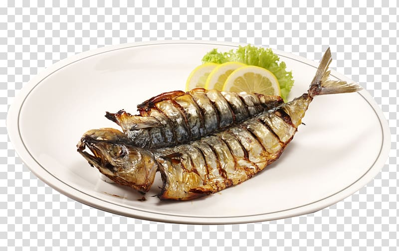 clip library Grilled clipart roasted fish. On white ceramic plate