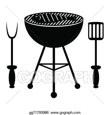 graphic transparent stock Vector illustration roast on. Grilled clipart roasted fish
