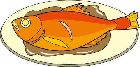 jpg free Roast meal free english. Grilled clipart roasted fish