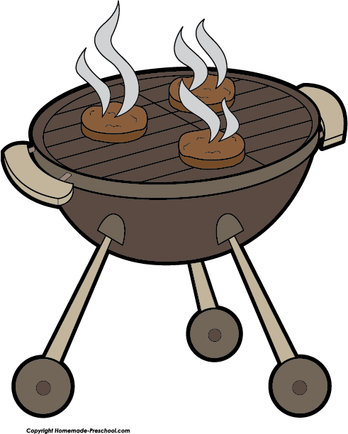 royalty free download Grilling hamburgers free . Grilled clipart