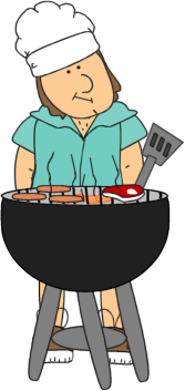 clipart library Grilling clipart. Dad clip art image