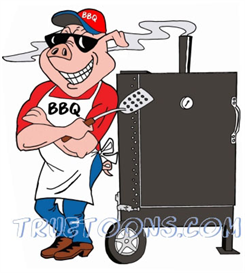vector freeuse Grilling clipart bbq smoker. Clip art free pig