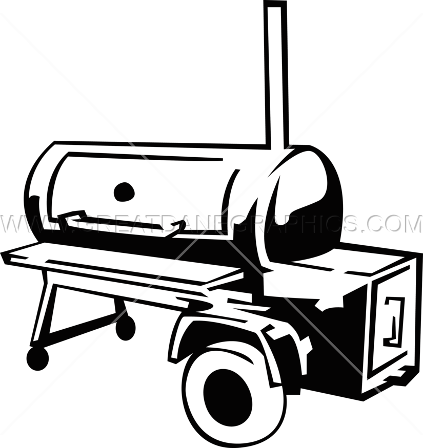 jpg royalty free download Production ready artwork for. Grilling clipart bbq smoker