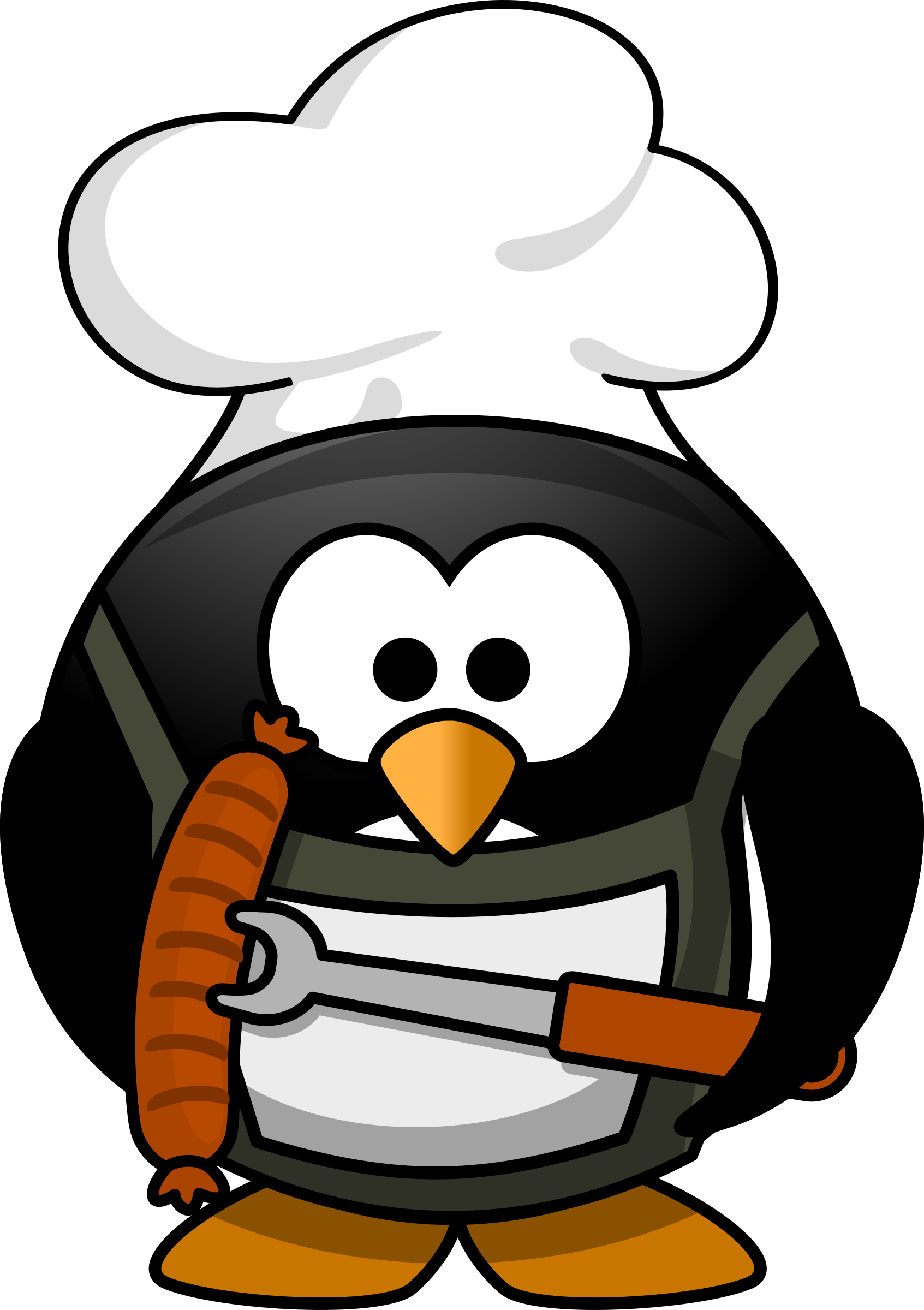 clip free stock Grilling clipart chat. Free chef penguin high
