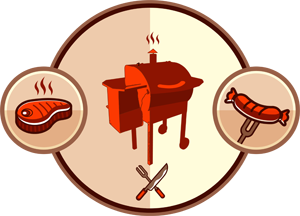 banner black and white download Pellet grill review top. Grilling clipart chat