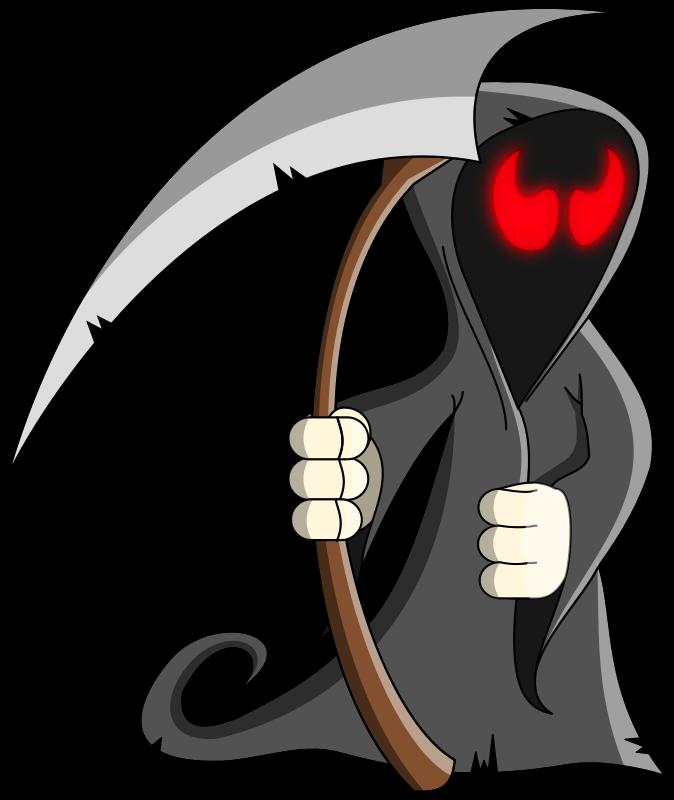 vector royalty free Grim reaper clipart. Halloween clip art