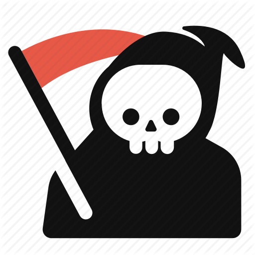 jpg royalty free download Grim reaper clipart bone. Halloween by siwat v