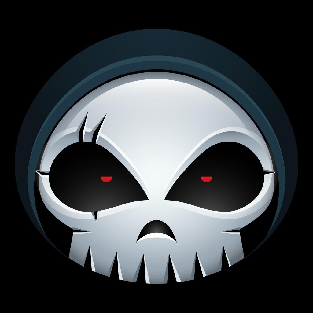 clipart royalty free library Skull halloween monster skeleton. Grim reaper clipart bone