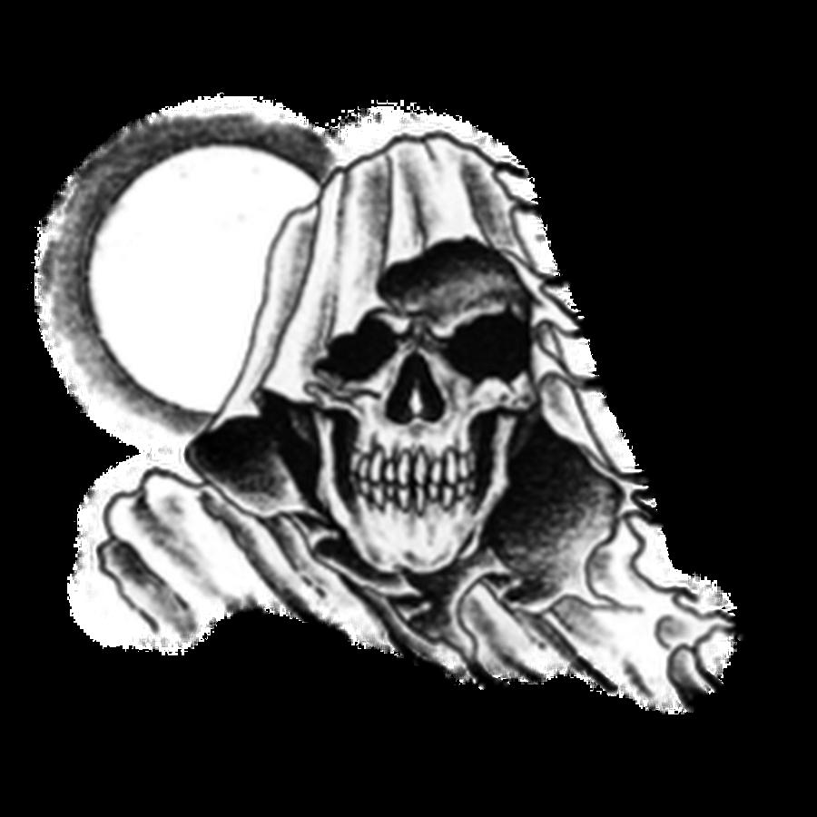 vector library Sleeve tattoo artist clip. Grim reaper clipart bone