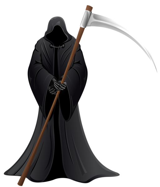 black and white library Grim reaper clipart coffin. Png vector death pinterest
