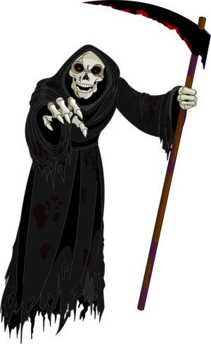 png freeuse stock Grim reaper clipart coffin. Free of a header