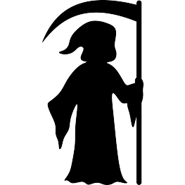 jpg download Grim reaper clipart coffin. Halloween silhouettes silhouette