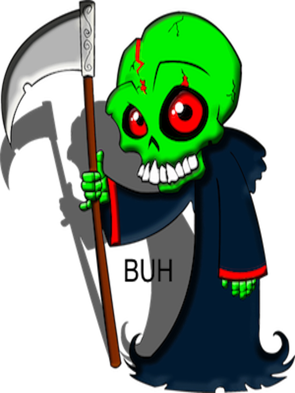 svg freeuse library Buh action shot. Grim reaper clipart easy