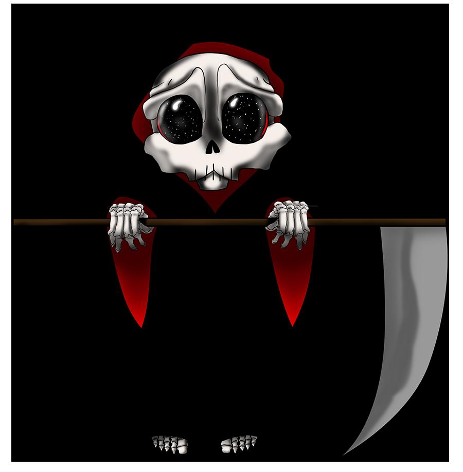 clip art black and white download Chibi by zerojigoku deviantart. Reaper vector