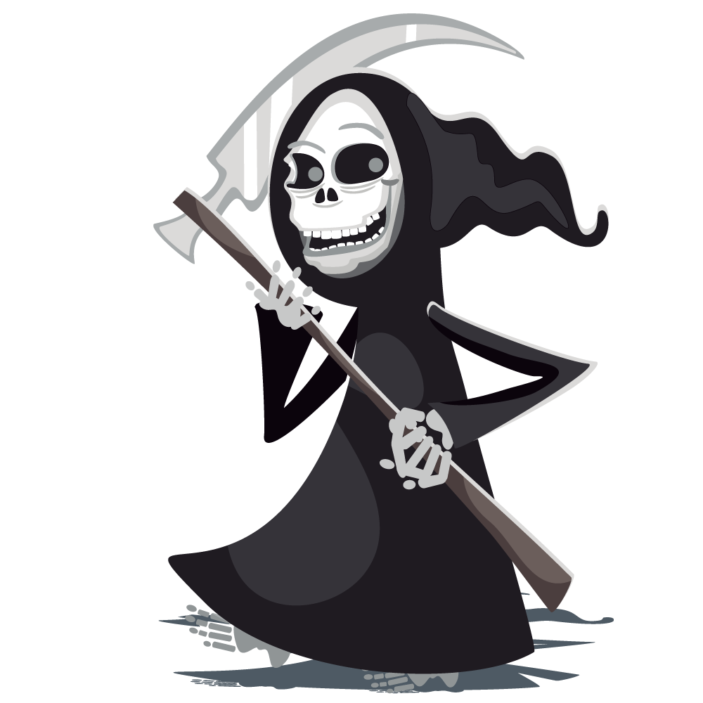 jpg library Grim reaper clipart icon. Halloween clip art image.