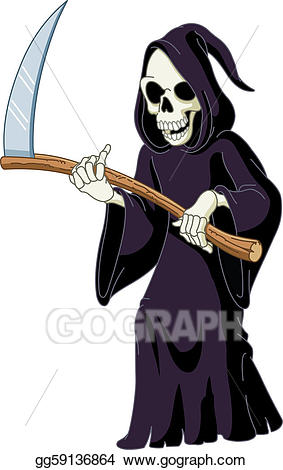 clip freeuse Vector art drawing gg. Grim reaper clipart icon