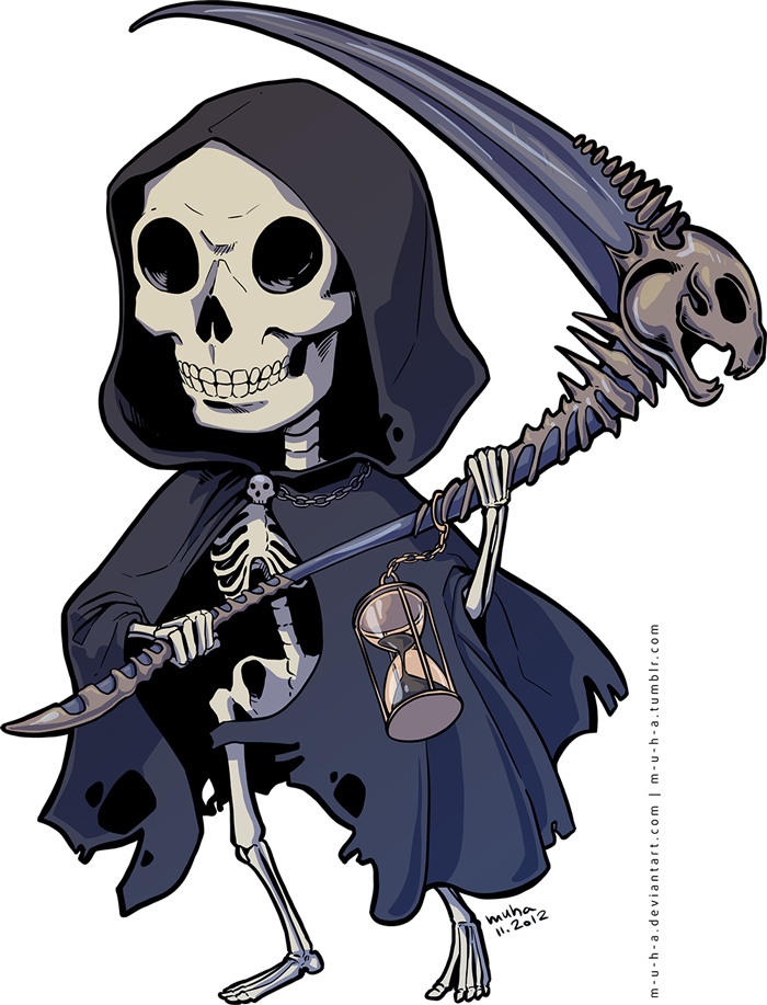 banner library download Chibi death by m. Grim reaper clipart killer
