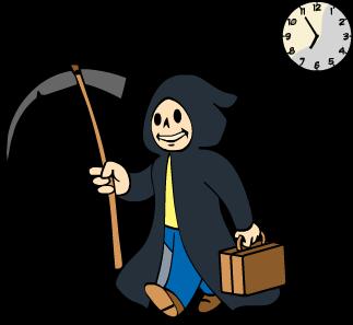 clip art black and white library Grim reaper clipart killer. S sprint fallout wiki