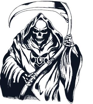 svg royalty free stock Frankenstein . Grim reaper clipart silhouette