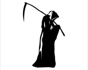 image freeuse library Grim reaper clipart silhouette.