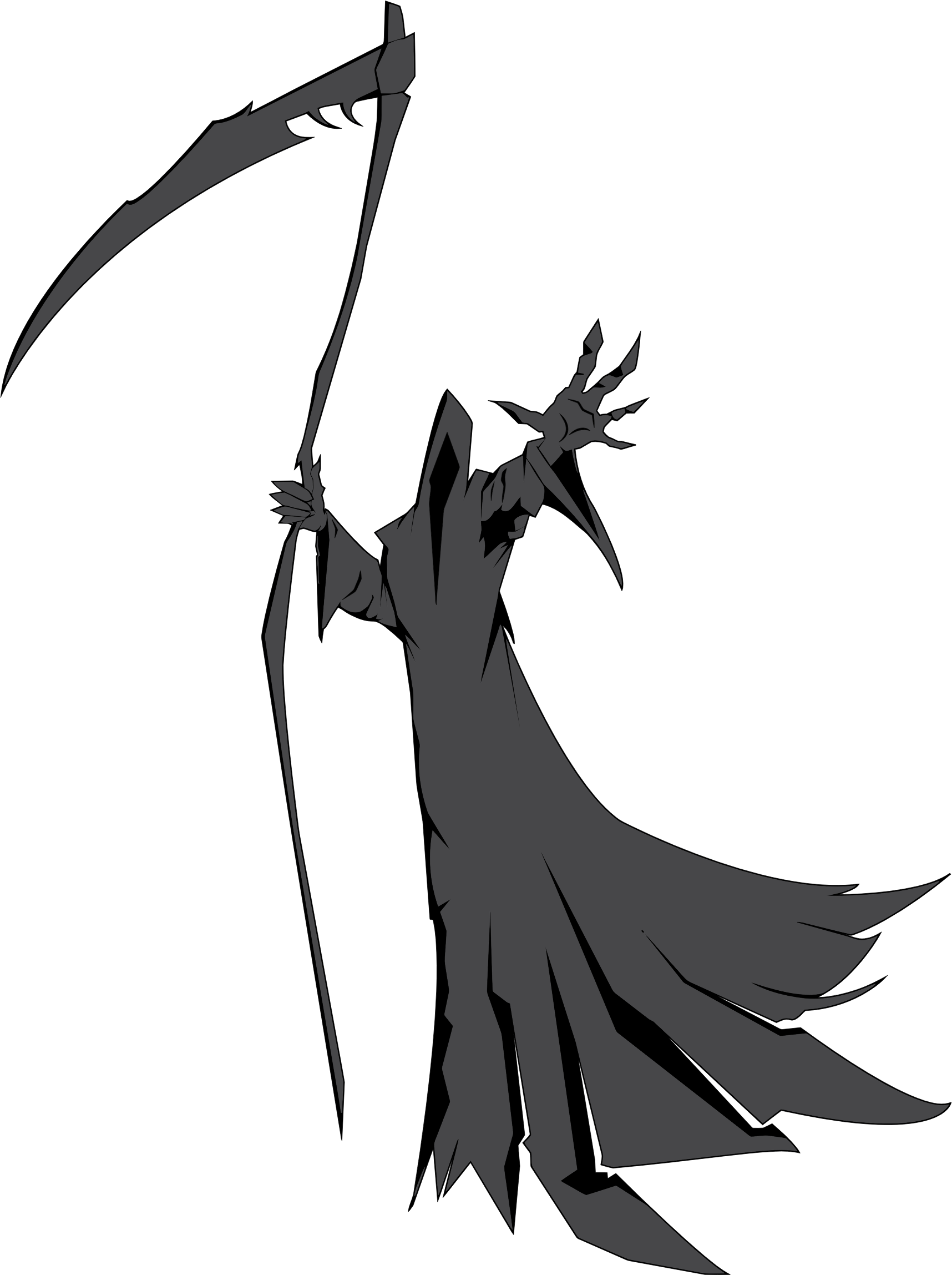 svg royalty free stock Illustration big image png. Grim reaper clipart silhouette